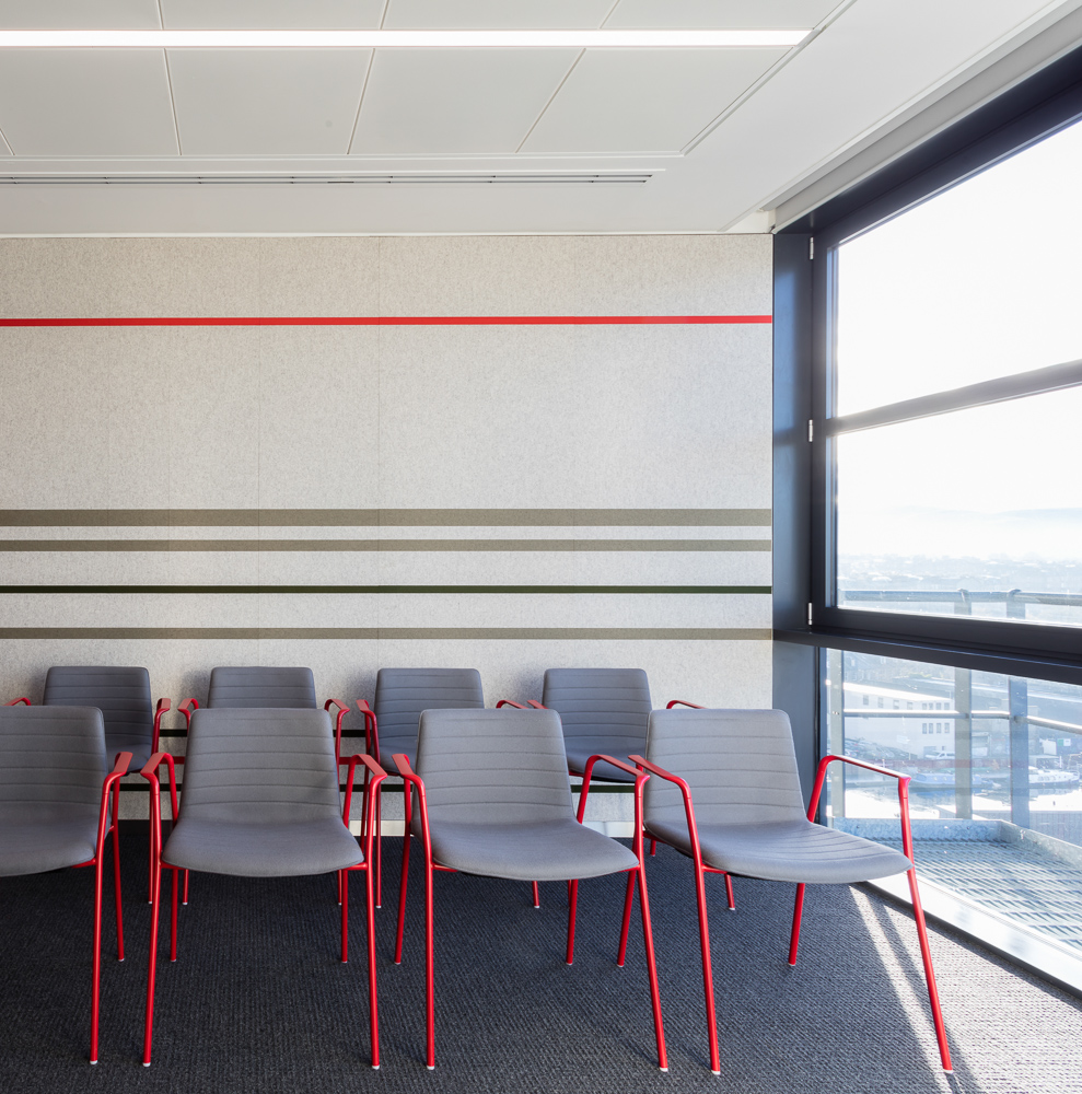 Reiach And Hall Architects Developed A Three Dimensional Tartan That  Becomes The Esthetic Characteristic Of This Office.